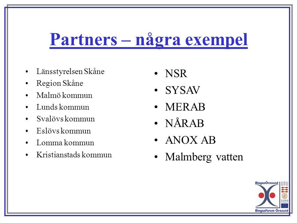 Partners – några exempel