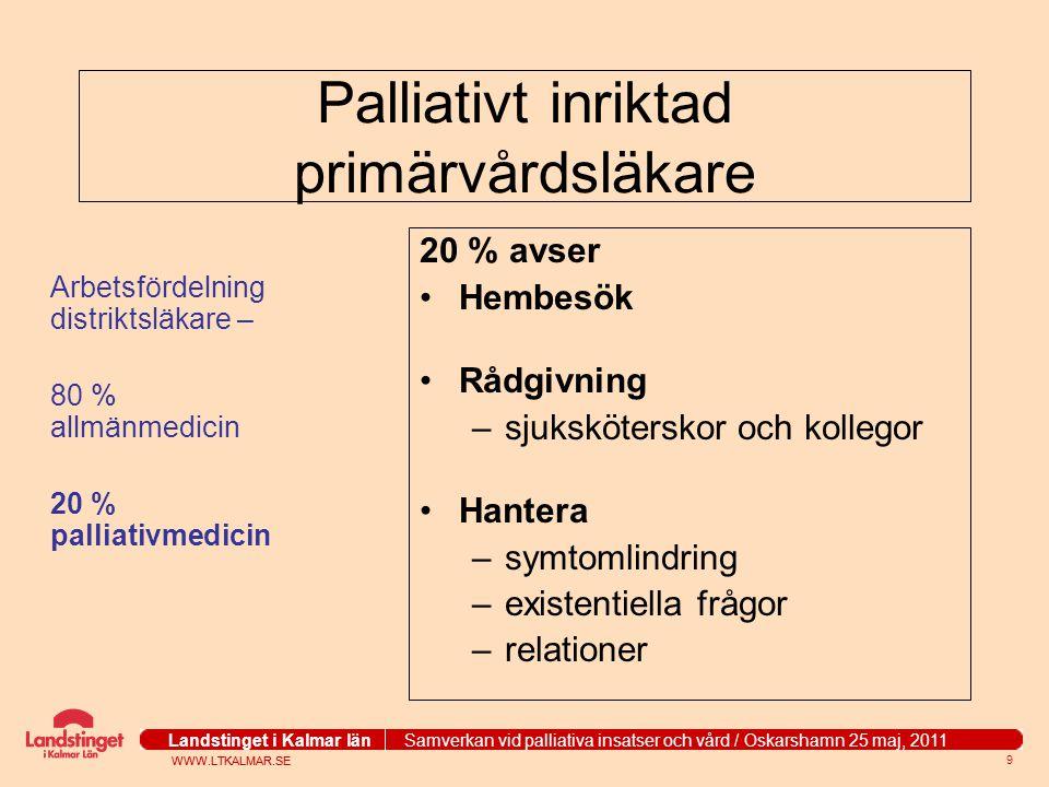 Palliativt inriktad primärvårdsläkare