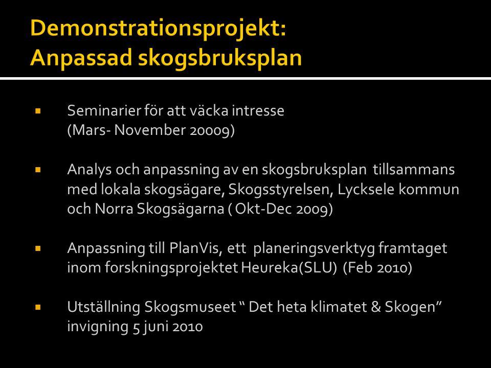Demonstrationsprojekt: Anpassad skogsbruksplan