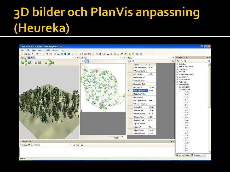 3D bilder och PlanVis anpassning (Heureka)