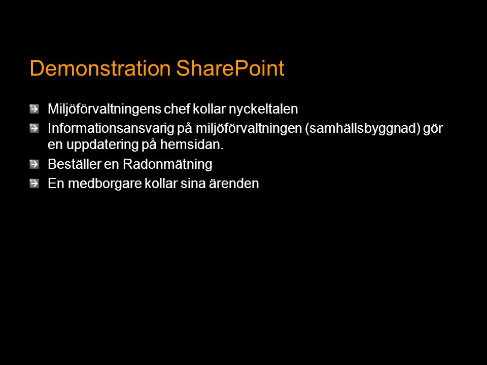 Demonstration SharePoint