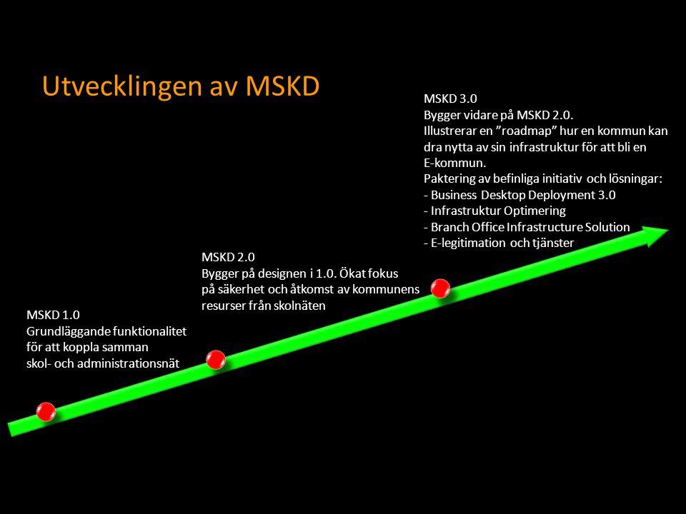 Utvecklingen av MSKD MSKD 3.0 Bygger vidare på MSKD 2.0.