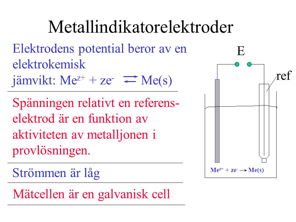Metallindikatorelektroder