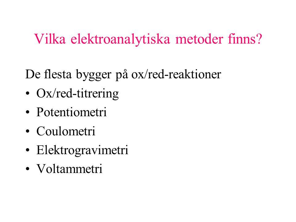 Vilka elektroanalytiska metoder finns