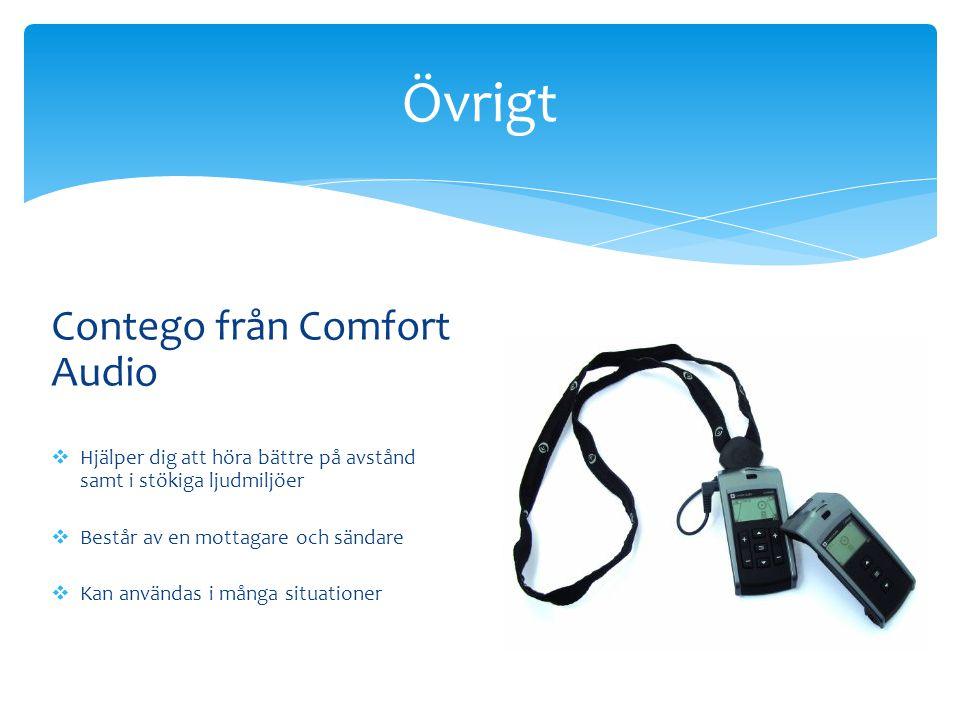 Övrigt Contego från Comfort Audio