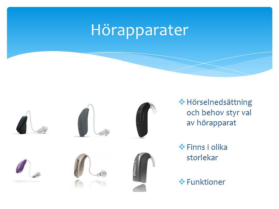 Hörapparater Hörselnedsättning och behov styr val av hörapparat