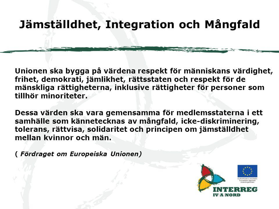 Jämställdhet, Integration och Mångfald