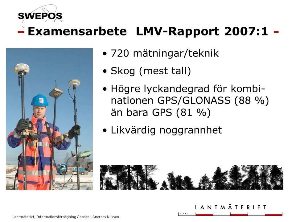 Examensarbete LMV-Rapport 2007:1