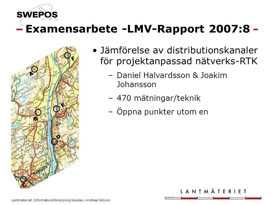 Examensarbete -LMV-Rapport 2007:8
