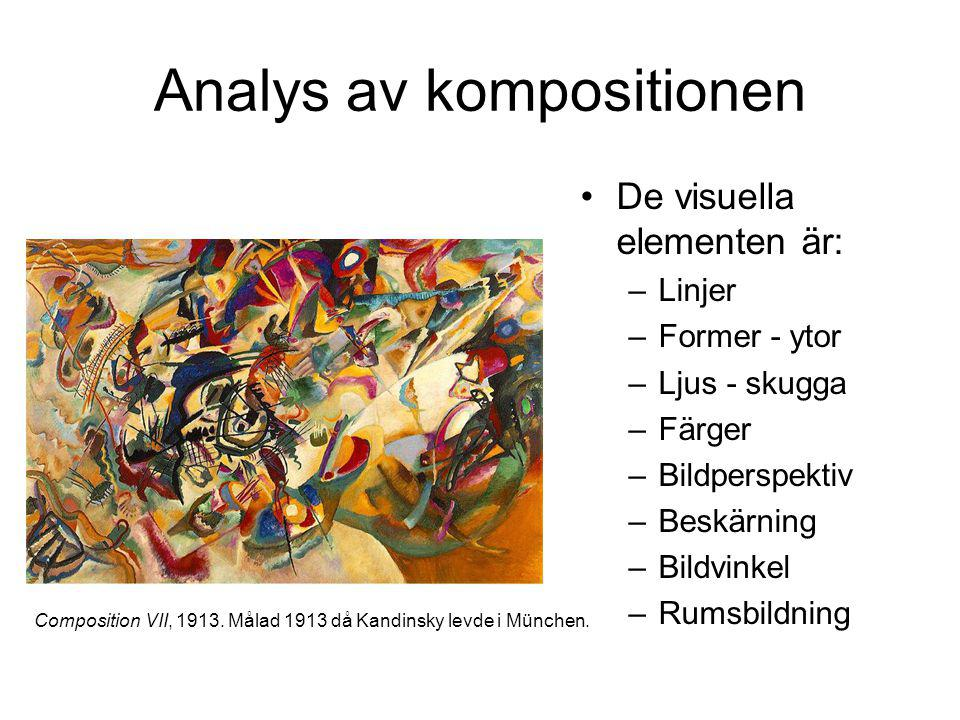 Analys av kompositionen