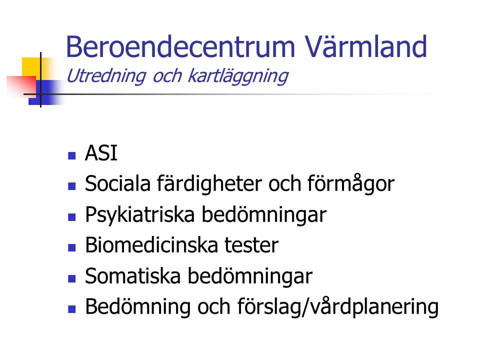 Beroendecentrum Värmland Utredning och kartläggning