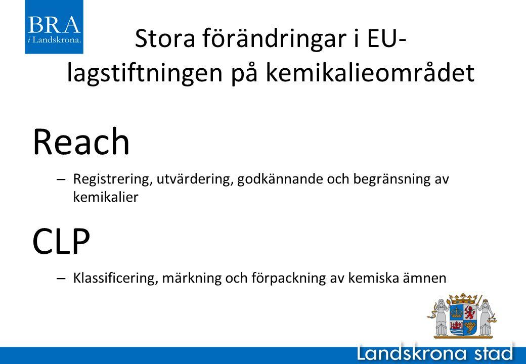 Stora förändringar i EU-lagstiftningen på kemikalieområdet