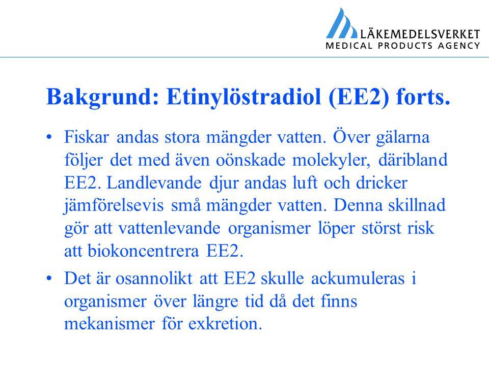 Bakgrund: Etinylöstradiol (EE2) forts.
