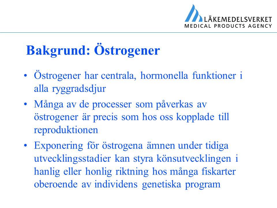 Bakgrund: Östrogener Östrogener har centrala, hormonella funktioner i alla ryggradsdjur.