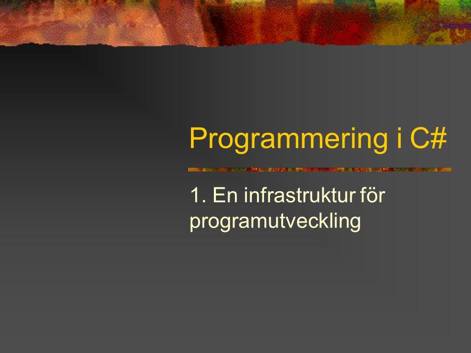 1. En infrastruktur för programutveckling