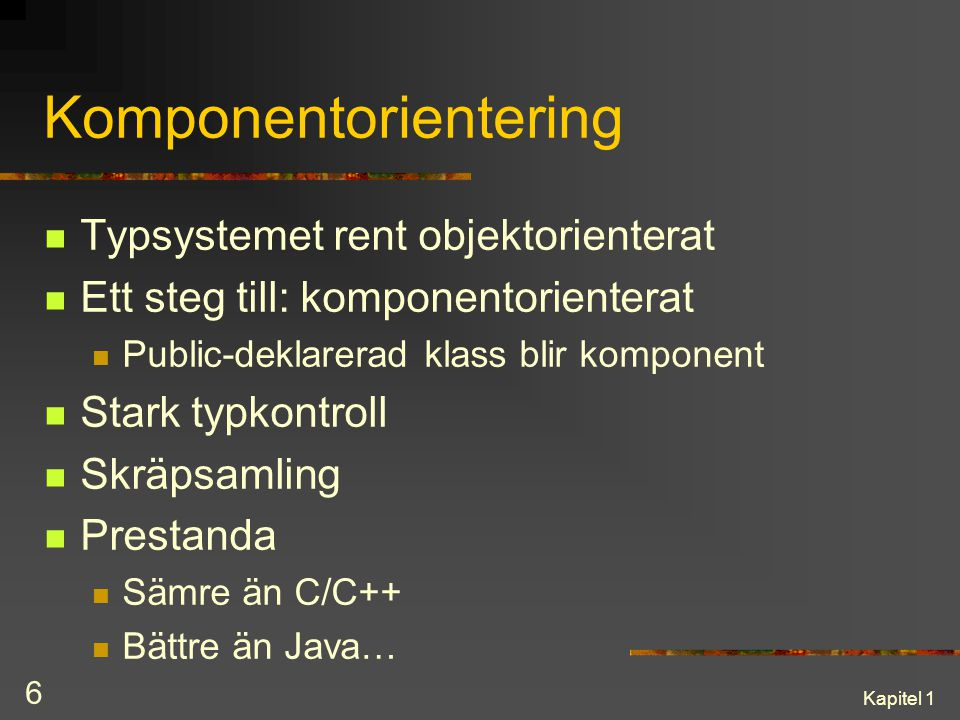 Komponentorientering
