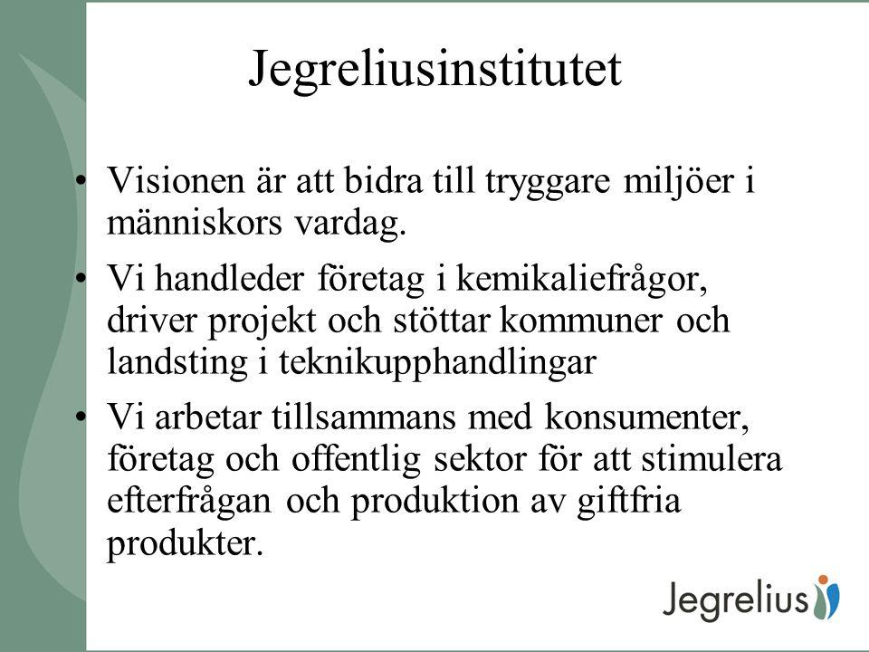 Jegreliusinstitutet Visionen är att bidra till tryggare miljöer i människors vardag.