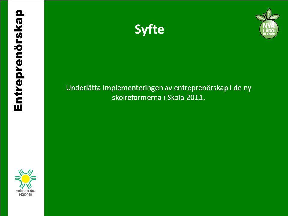 Syfte Entreprenörskap