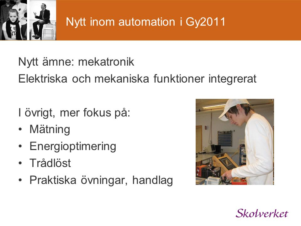 Nytt inom automation i Gy2011