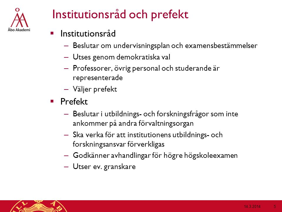 Institutionsråd och prefekt