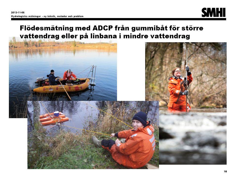 2013-11-06 Hydrologiska mätningar – ny teknik, metoder och problem.