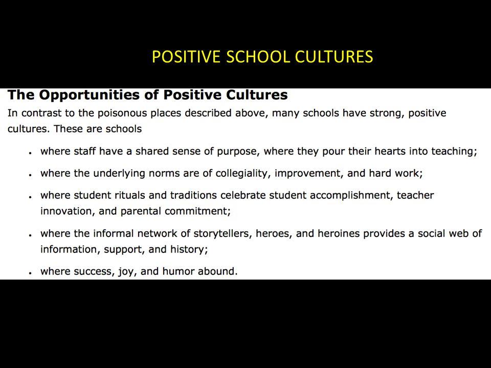 POSITIVE SCHOOL CULTURES