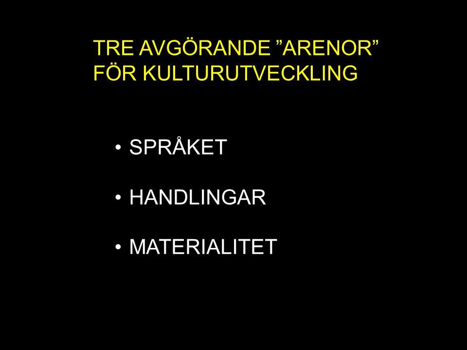 TRE AVGÖRANDE ARENOR