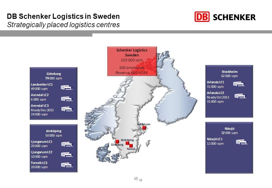 DB Schenker Logistics in Sweden Strategically placed logistics centres