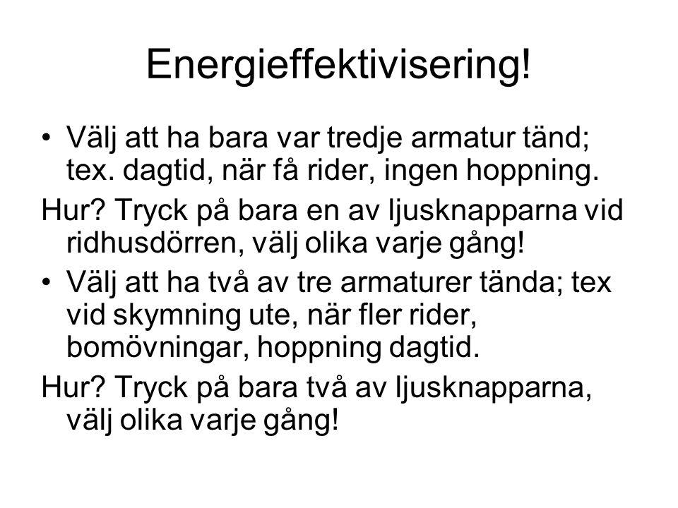 Energieffektivisering!