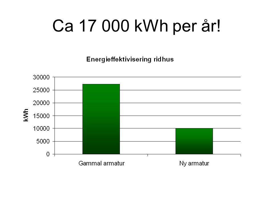 Ca 17 000 kWh per år!