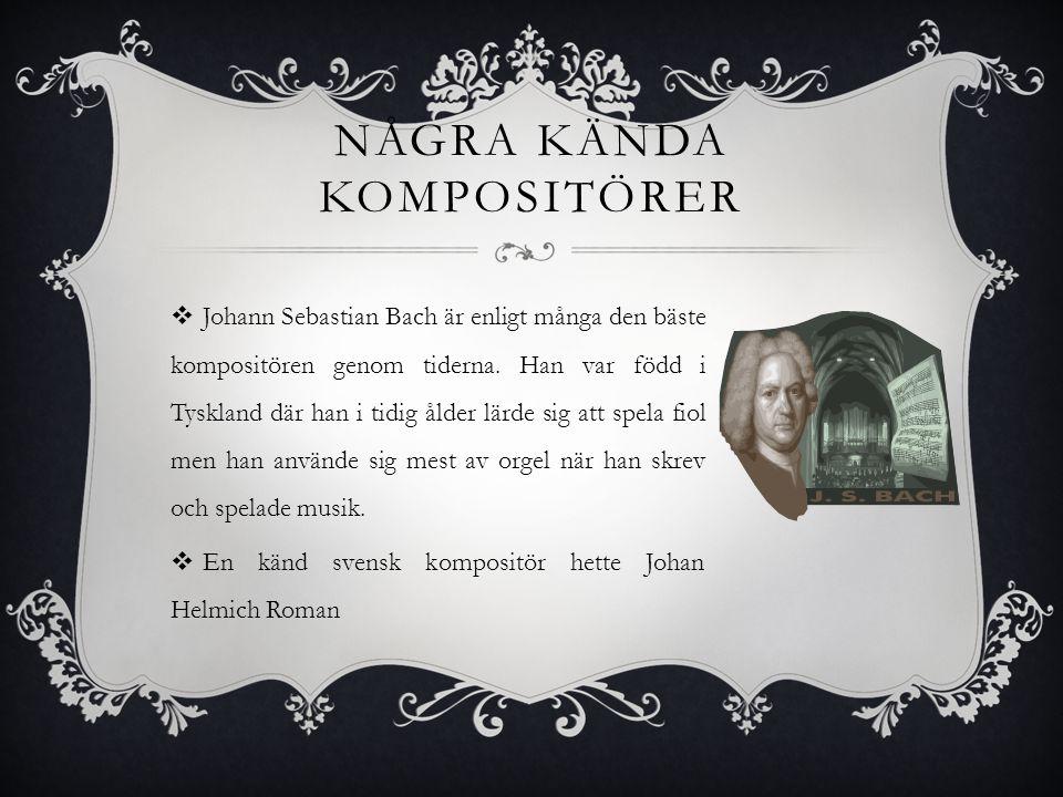 Några kända kompositörer