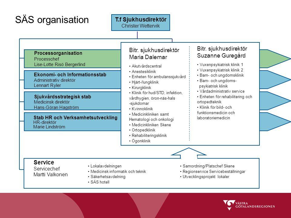 SÄS organisation T.f Sjukhusdirektör