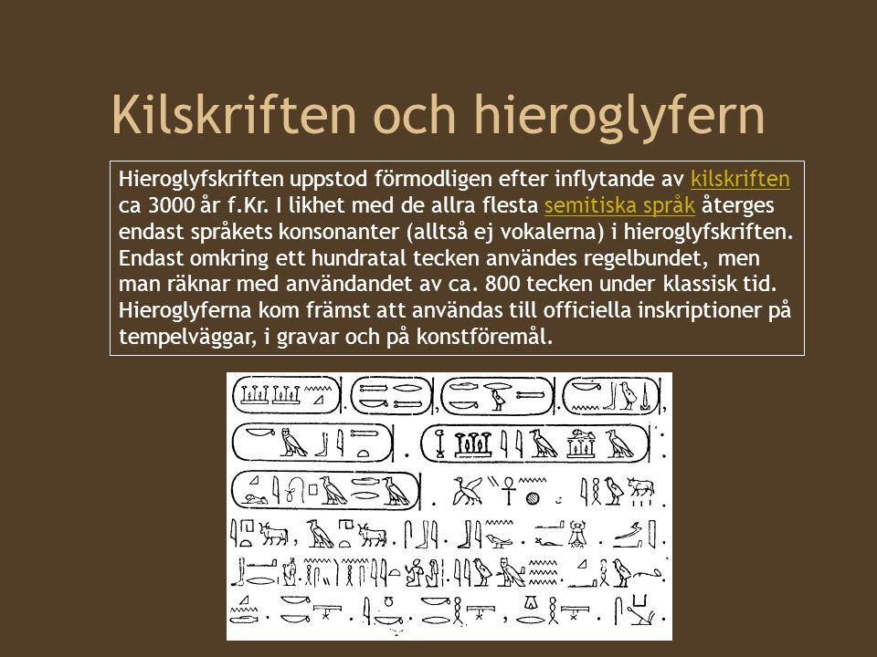 Kilskriften och hieroglyfern