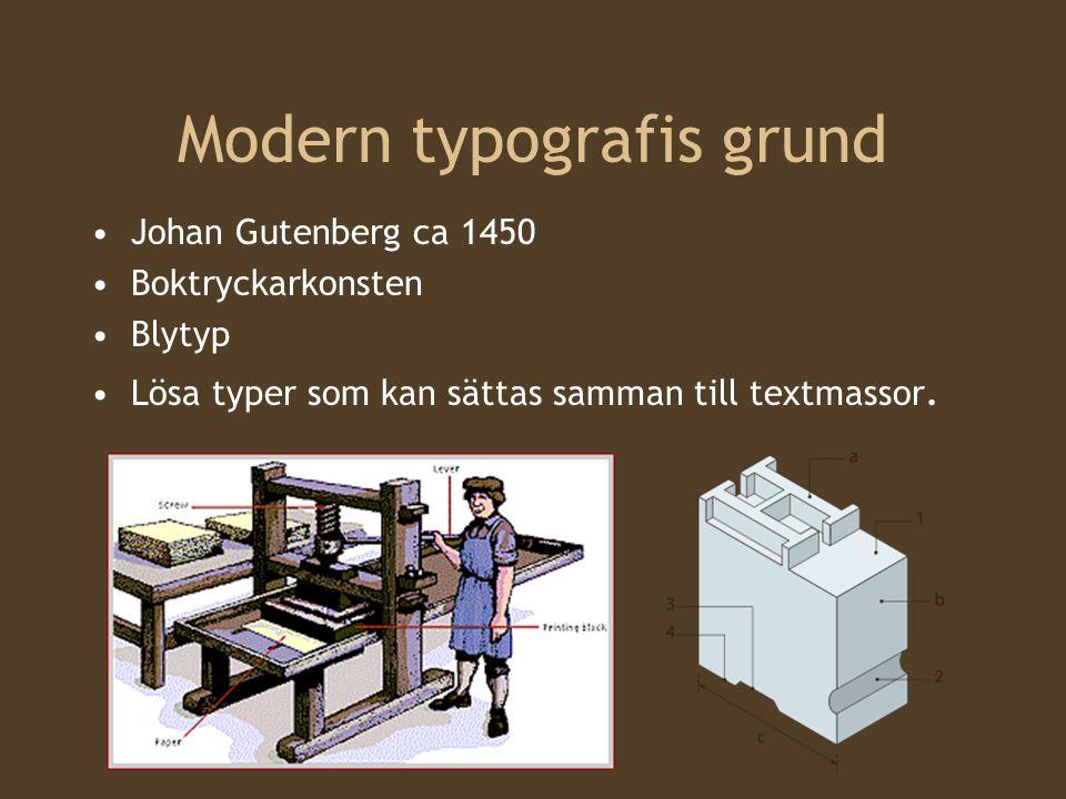 Modern typografis grund
