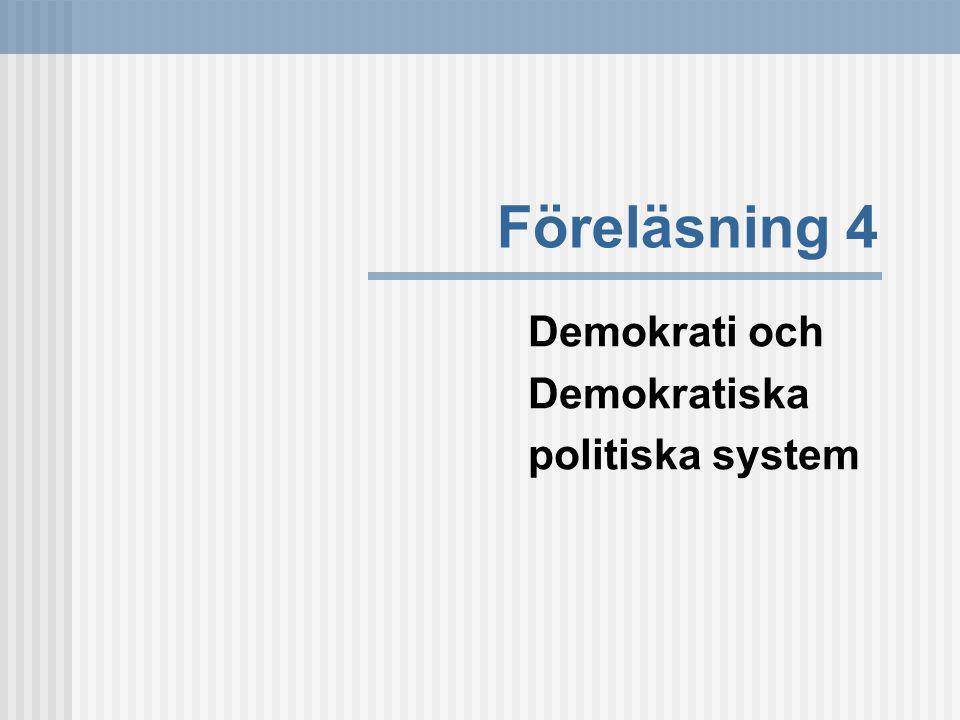 Demokrati och Demokratiska politiska system