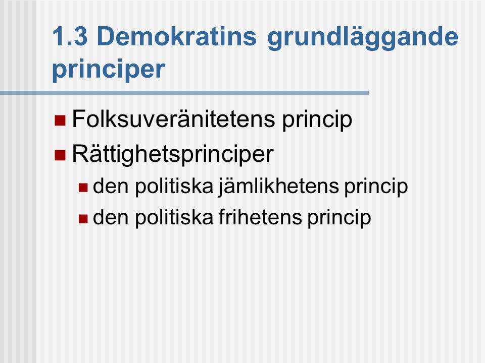 1.3 Demokratins grundläggande principer
