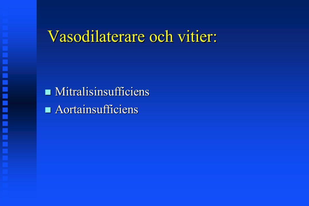 Vasodilaterare och vitier:
