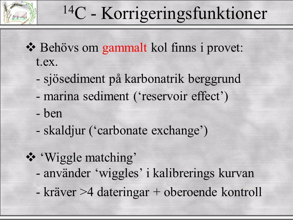 14C - Korrigeringsfunktioner