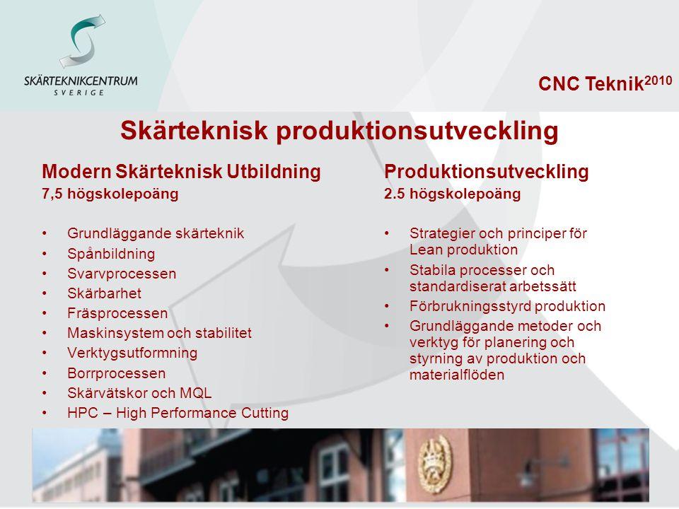 Skärteknisk produktionsutveckling