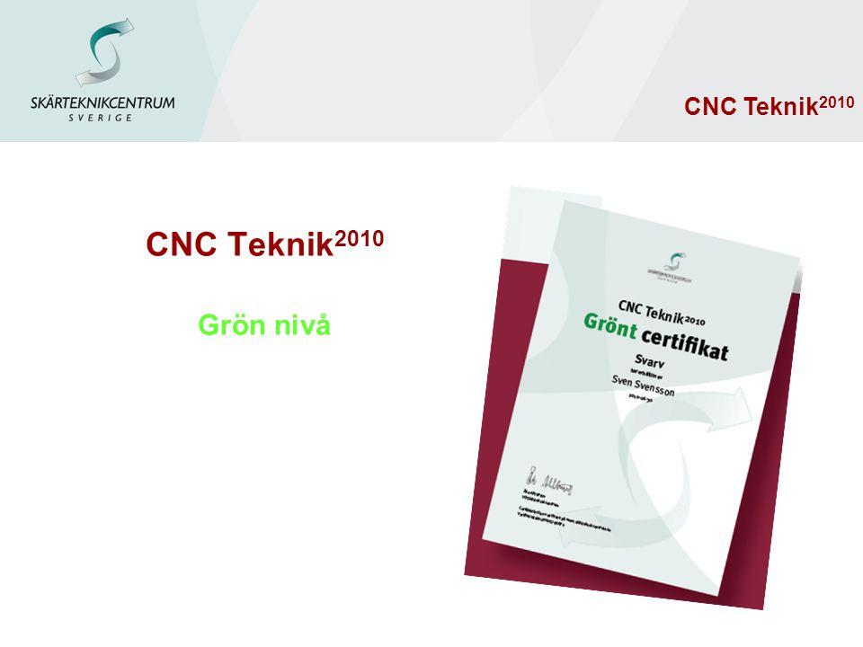 CNC Teknik2010 Grön nivå CNC Teknik2010