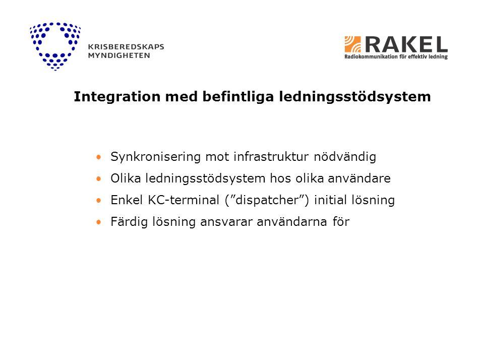 Integration med befintliga ledningsstödsystem