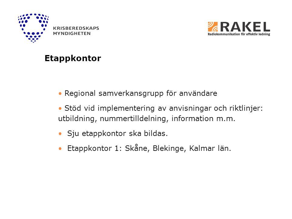 Etappkontor Regional samverkansgrupp för användare