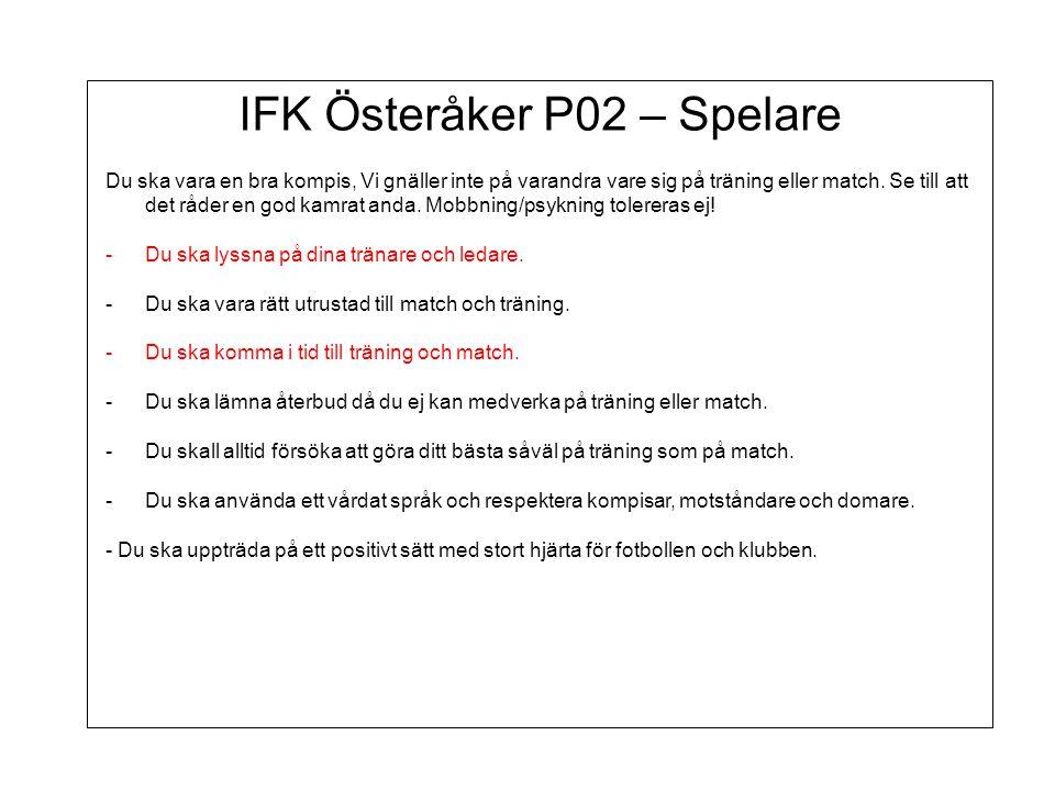 IFK Österåker P02 – Spelare