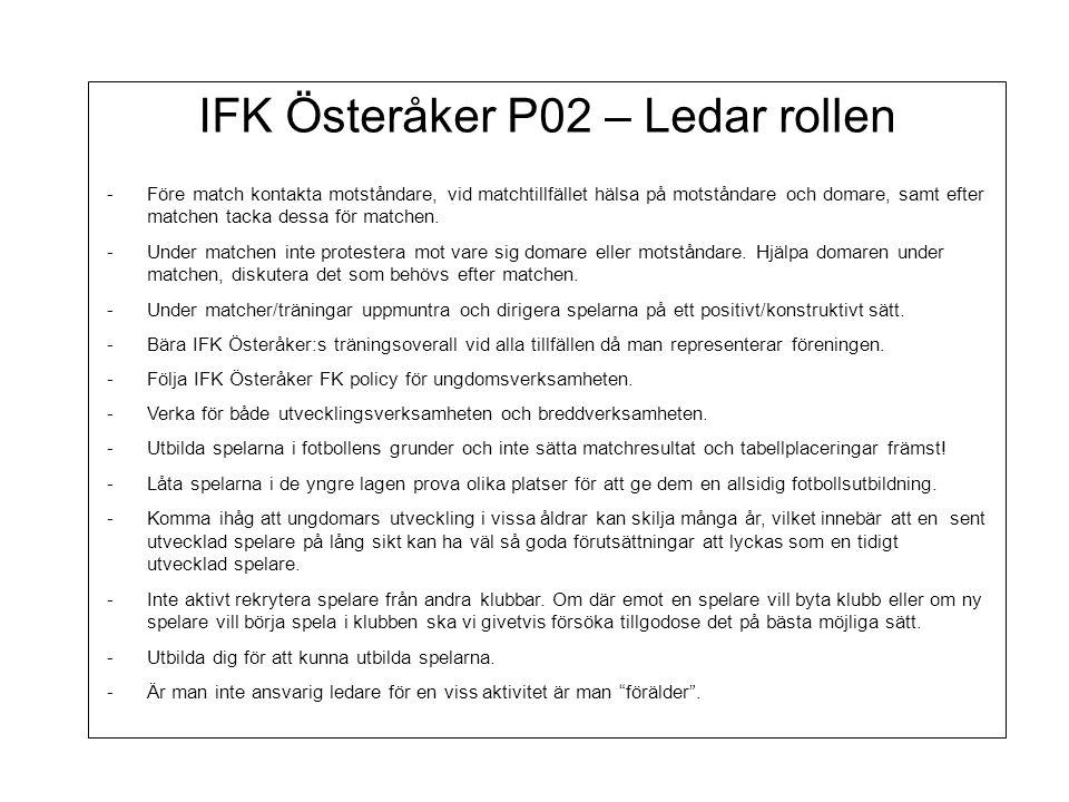IFK Österåker P02 – Ledar rollen