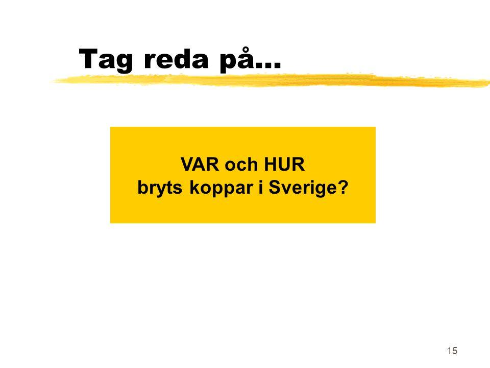 VAR och HUR bryts koppar i Sverige