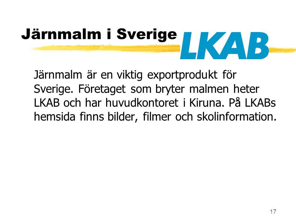 Järnmalm i Sverige