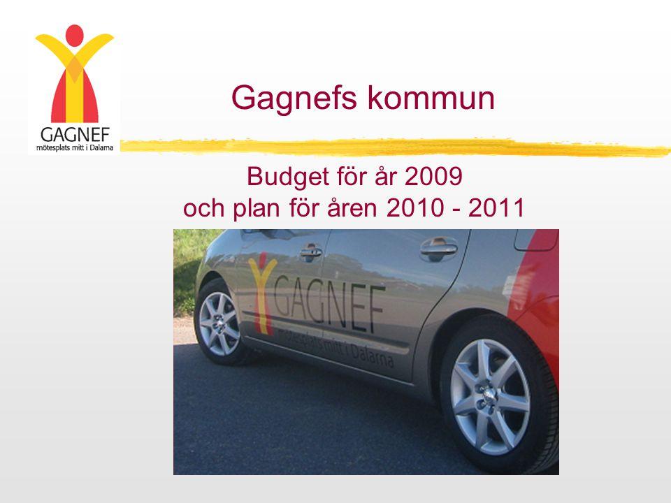 Budget för år 2009 och plan för åren 2010 - 2011