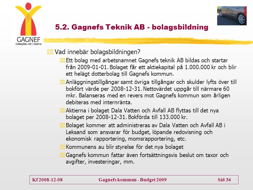 5.2. Gagnefs Teknik AB - bolagsbildning