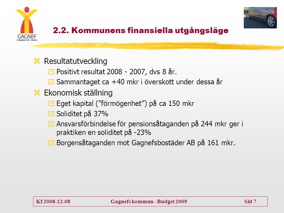 2.2. Kommunens finansiella utgångsläge