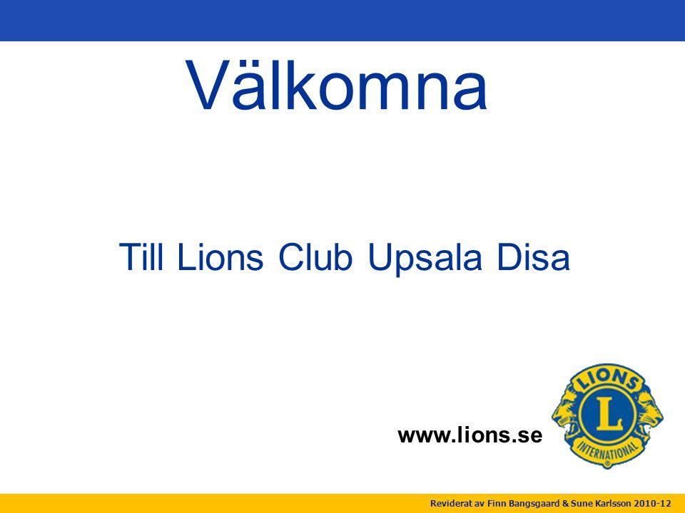 Till Lions Club Upsala Disa